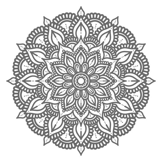 Handgezeichnetes dekoratives konzeptmandala Premium Vektoren