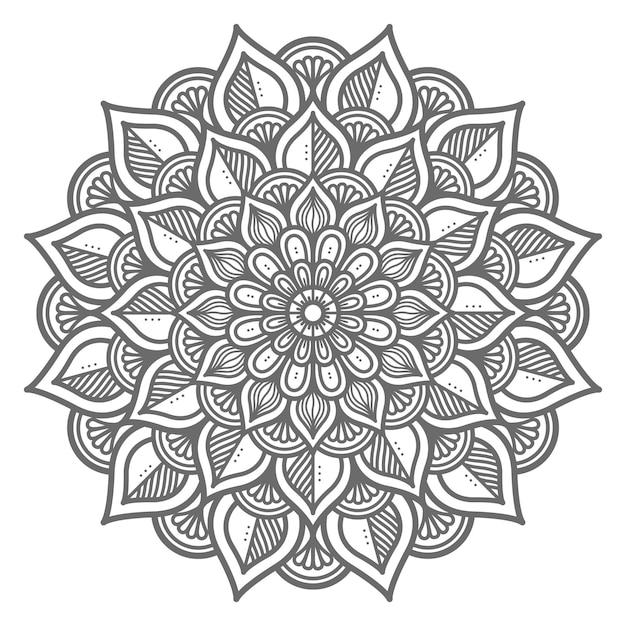 Handgezeichnetes kreisförmiges mandala Premium Vektoren