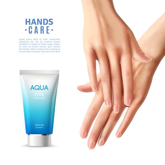 Handpflegecreme realistische poster Kostenlosen Vektoren