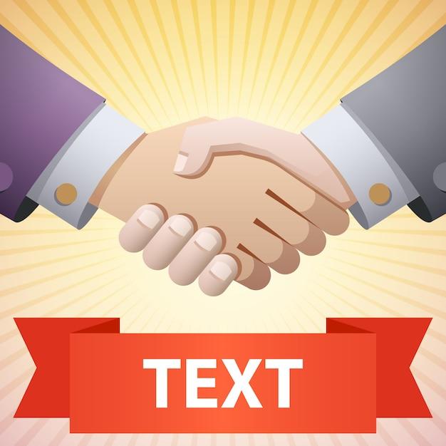 Handshake-abbildung Premium Vektoren
