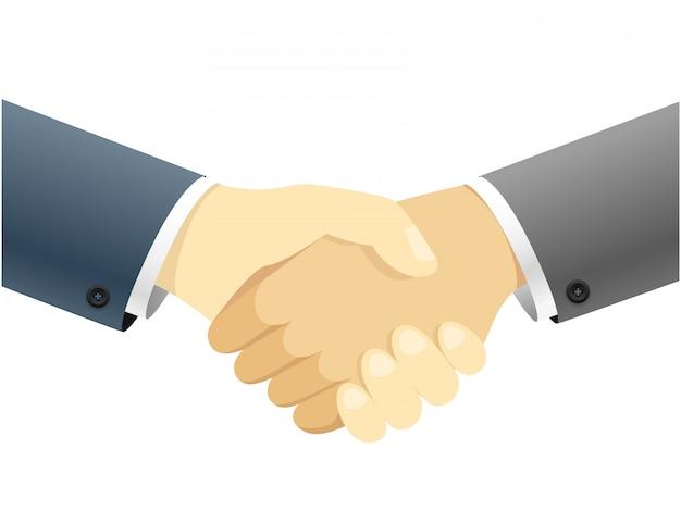 Handshake-vektor-konzept abbildung getrennt auf weißem hintergrund Premium Vektoren