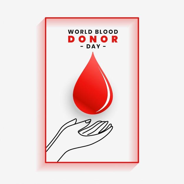Handsparendes blutplakat für weltblutspendertag Kostenlosen Vektoren