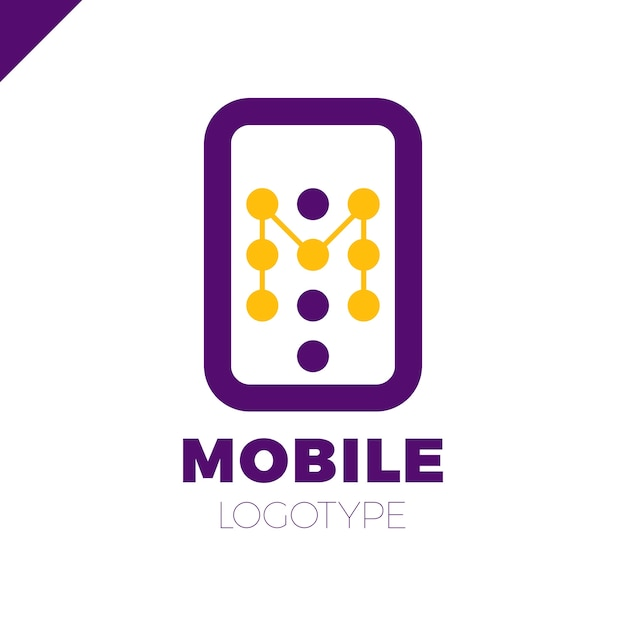 Handy-App-Brief M-Logo-Symbol Design-Vorlage-Elemente | Download der ...