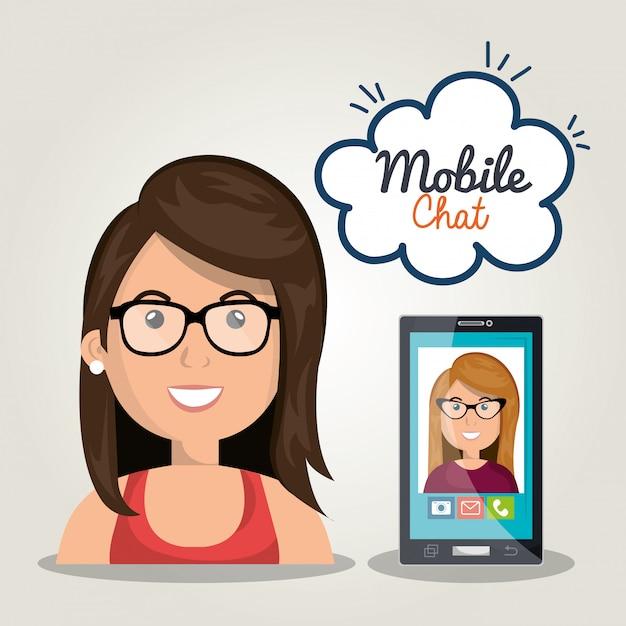 Handy-chat Kostenlosen Vektoren