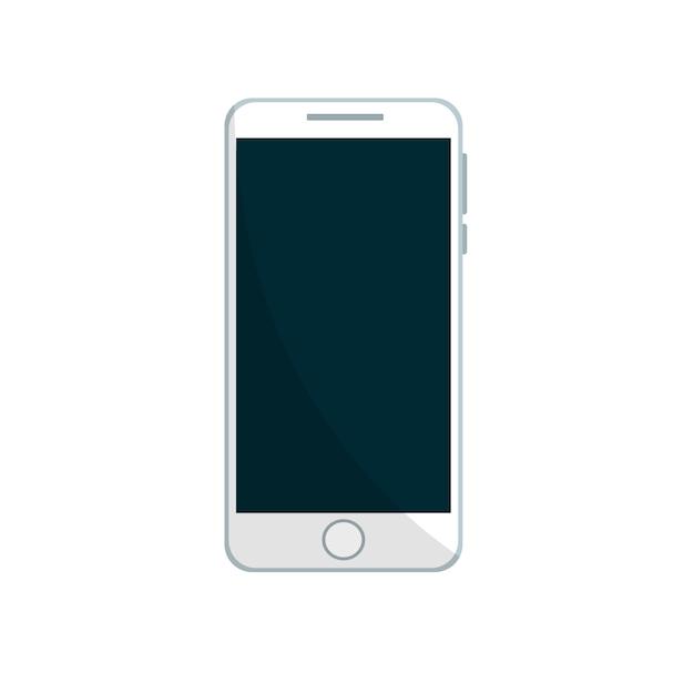 Handy-design in weiß Premium Vektoren