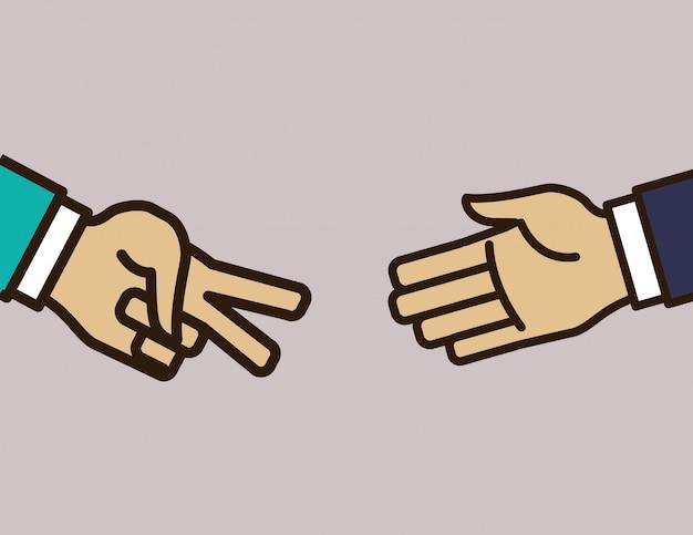 Handzeichen design Premium Vektoren