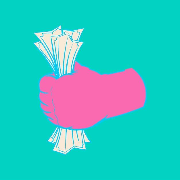 Handzeichnungsillustration des finanzkonzeptes Kostenlosen Vektoren