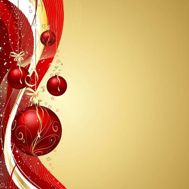 H ngende weihnachtskugeln auf dekorativen hintergrund for Weihnachtskugeln bilder