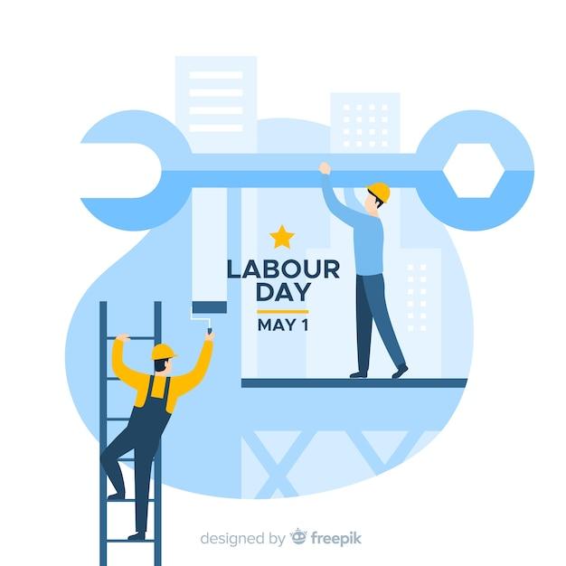 Happy arbeitstag hintergrund Kostenlosen Vektoren