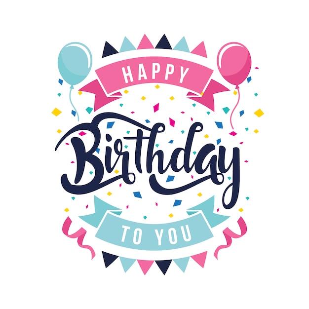 Happy birthday hintergrund Kostenlosen Vektoren