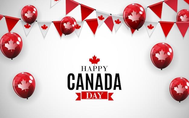 Happy canada day hintergrundgrußkarte. illustration Premium Vektoren