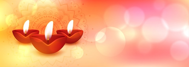 Happy diwali banner Kostenlosen Vektoren