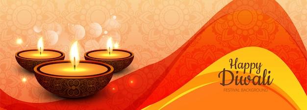 Happy diwali social media werbebanner Kostenlosen Vektoren
