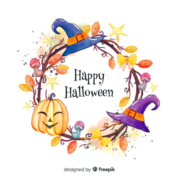 Happy halloween frame hintergrund Kostenlosen Vektoren