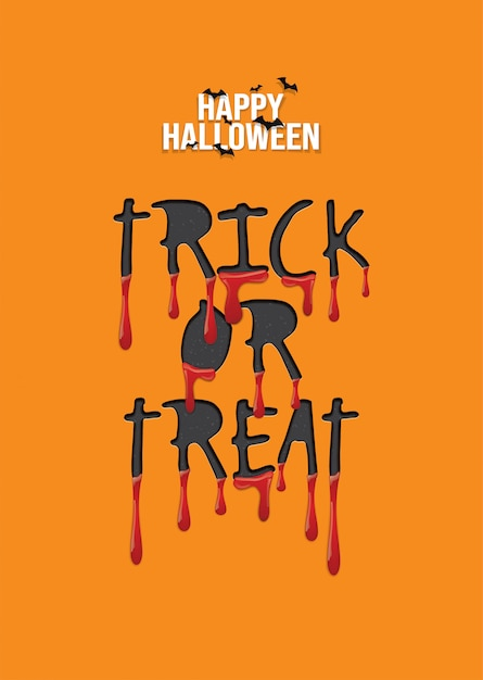 Happy halloween hintergrund, süßes oder saures. Premium Vektoren