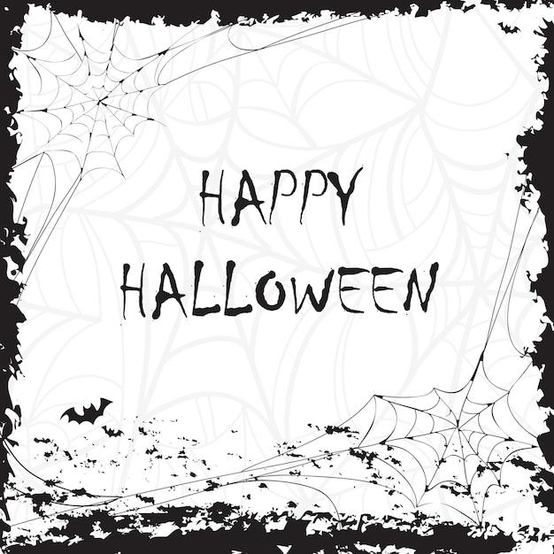 Happy halloween-kalligraphie. halloween-banner halloween-schriftzug. fledermaus-silhouette Kostenlosen Vektoren
