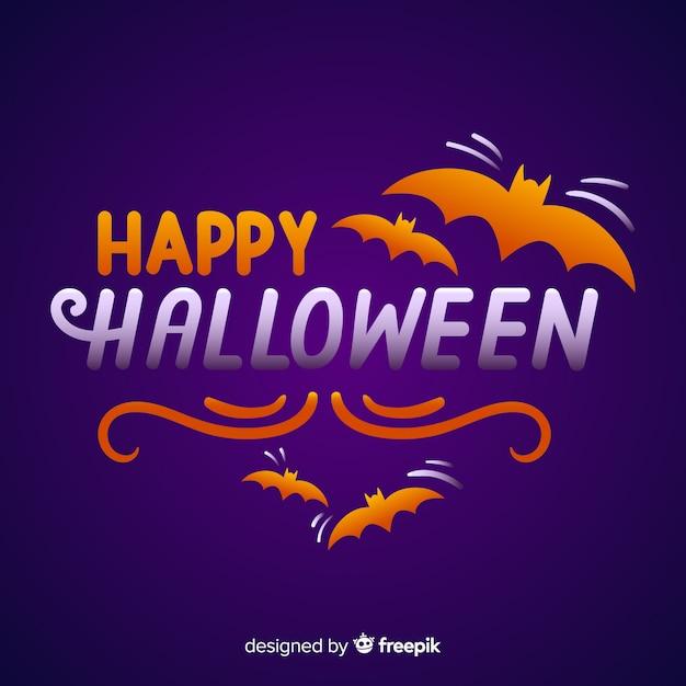 Happy halloween schriftzug hintergrund Kostenlosen Vektoren