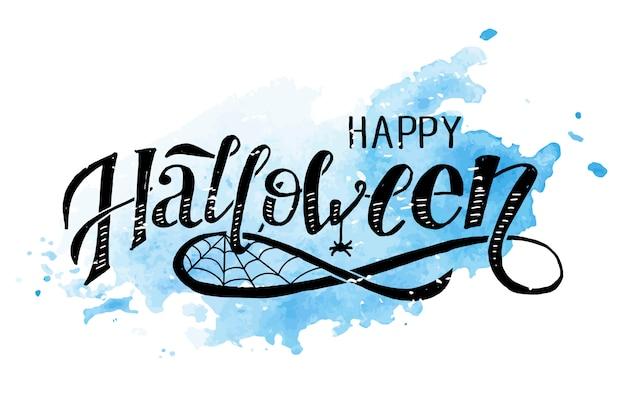 Happy halloween schriftzug Premium Vektoren