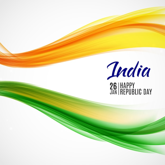Happy india republic day26 januar. Premium Vektoren