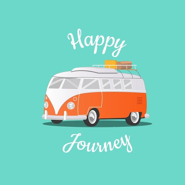 Happy journey & ferien Premium Vektoren