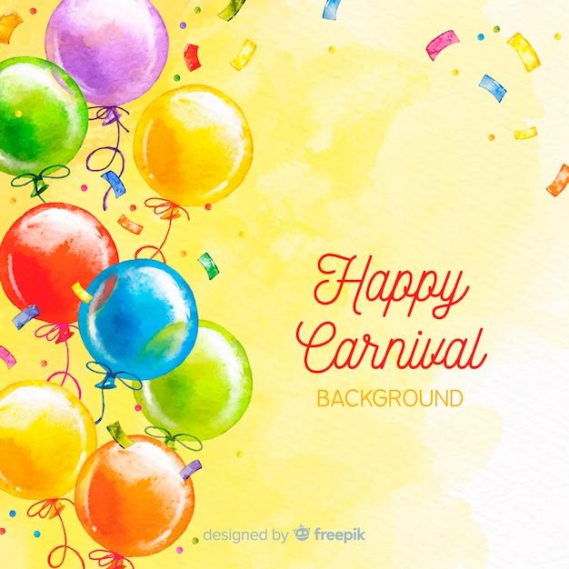 Happy karneval hintergrund Kostenlosen Vektoren