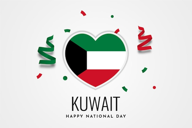 Happy kuwait nationalfeiertag illustration vorlage design Premium Vektoren