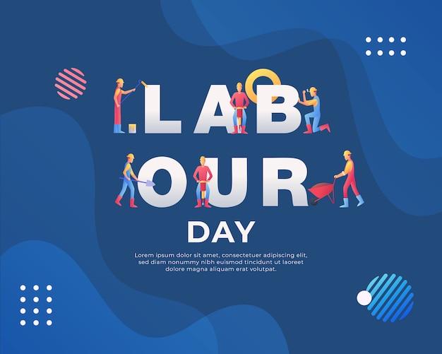 Happy labor day hintergrund Premium Vektoren
