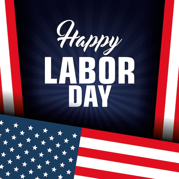 Happy labor day-poster-symbol Kostenlosen Vektoren