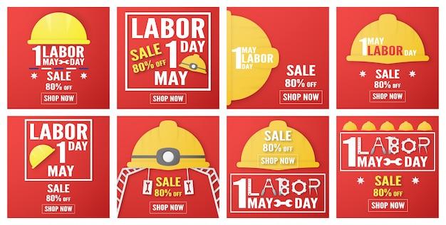 Happy labour day in jedem land der welt Premium Vektoren