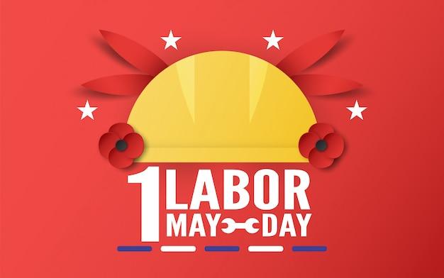 Happy labour-tag am 1. mai. Premium Vektoren