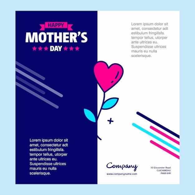 Happy mother's day grußkarte Kostenlosen Vektoren