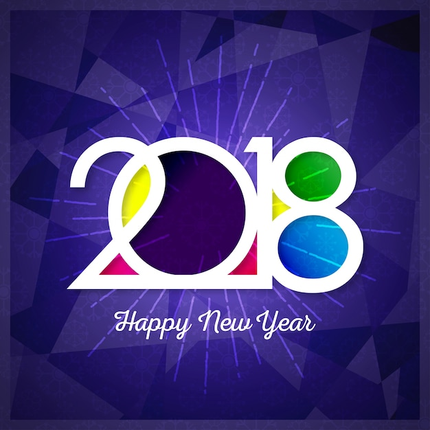 Happy New Year 2018 Text Design Vector Gruß Illustration mit ...