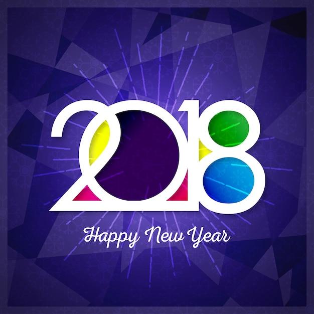 Happy New Year 2018 Text Design Vector Gruß Illustration mit ...