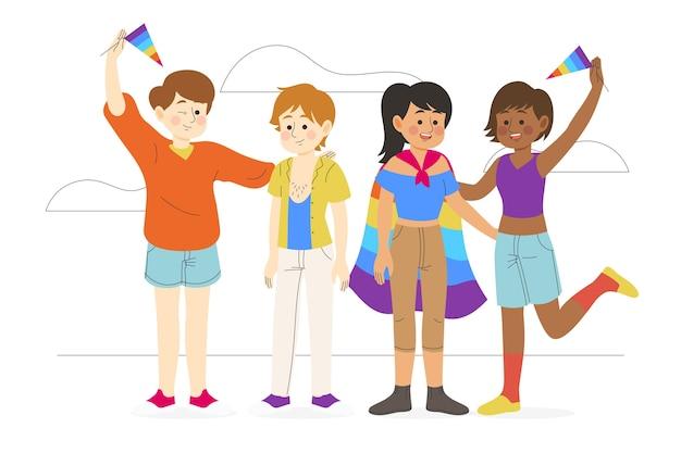 Happy pride day leute Kostenlosen Vektoren