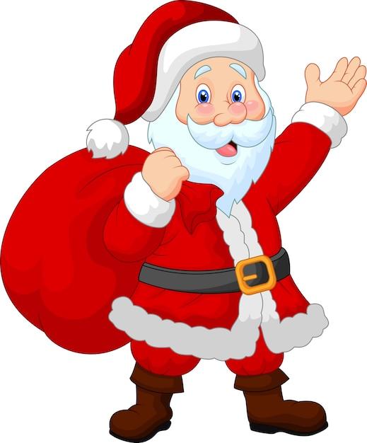 Happy santa hexensack Premium Vektoren