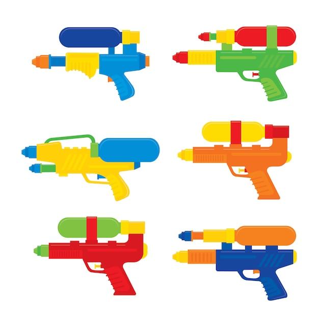 Happy songkran festival in thailand? wasserpistole spielzeug vector Premium Vektoren
