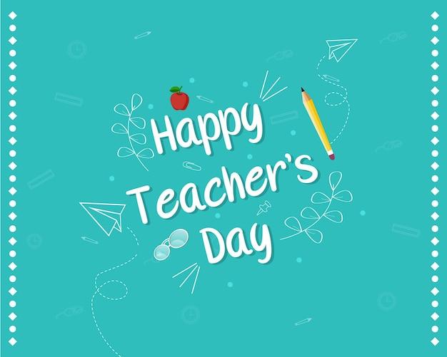 Happy teacher's day banner design Premium Vektoren