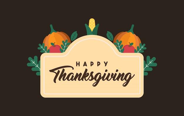 Happy thanksgiving-abbildung Premium Vektoren