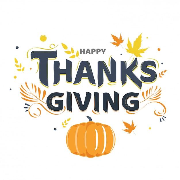 Happy thanksgiving hintergrund. Premium Vektoren