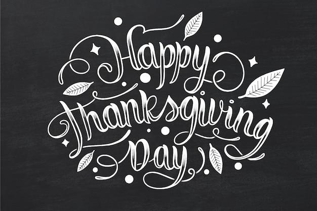 Happy thanksgiving-schriftstil Premium Vektoren