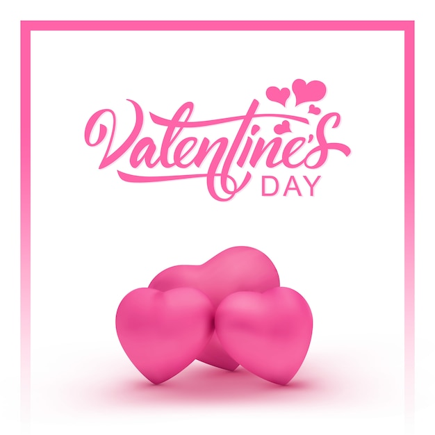 happy valentines day eine schöne inschrift mit drei rosa