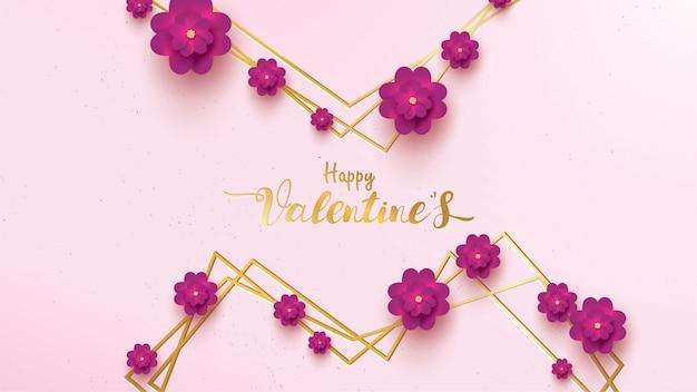 Happy valentines day-grußkarte Premium Vektoren