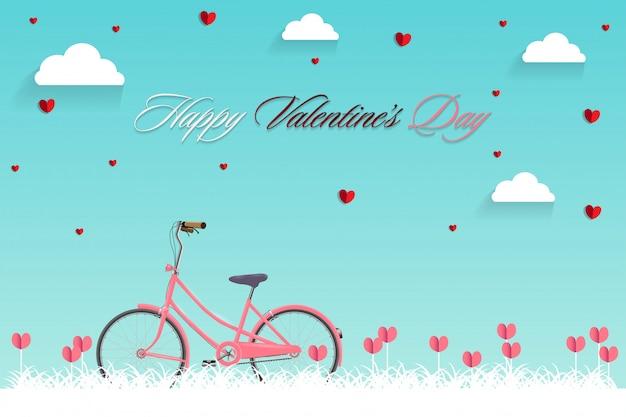 Happy valentines day-vektor-design. Premium Vektoren