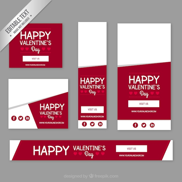 happy valentinstag banner download der kostenlosen vektor. Black Bedroom Furniture Sets. Home Design Ideas