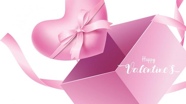 Happy valentinstag hintergrund Premium Vektoren