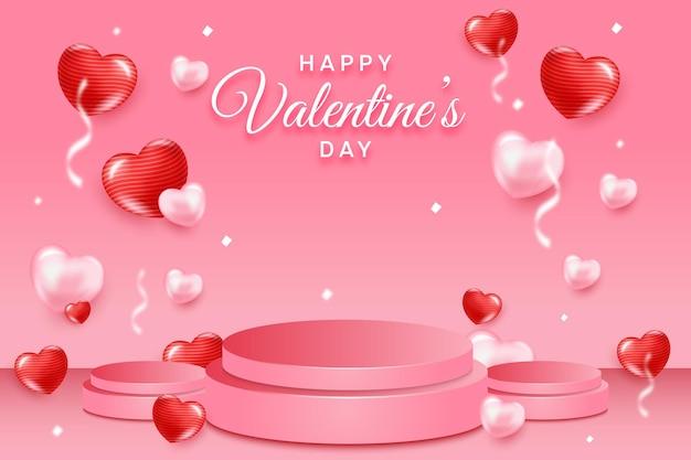 Happy valentinstag konzept Premium Vektoren