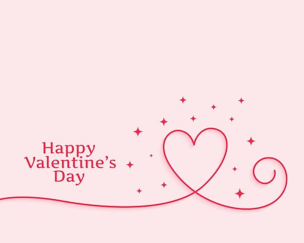 Happy valentinstag kreative linie herz Kostenlosen Vektoren