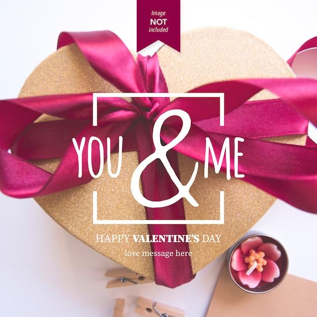 Fesselnd Happy Valentinstag Nachricht Premium Vektoren