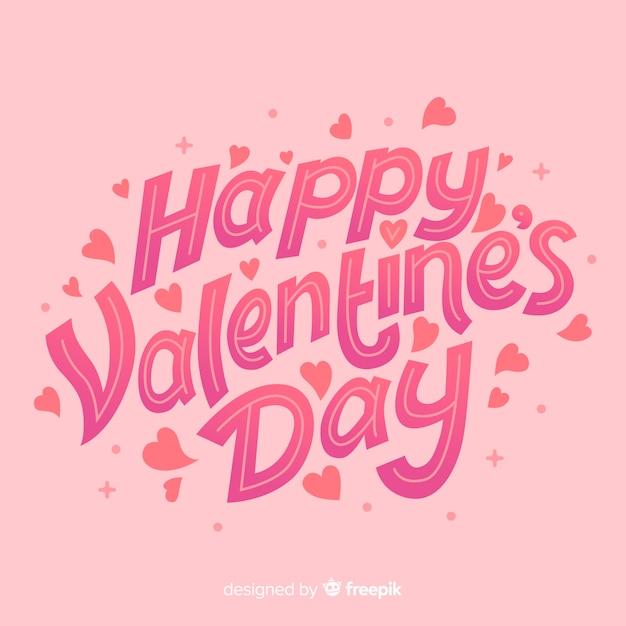 Happy valentinstag-schriftzug Kostenlosen Vektoren
