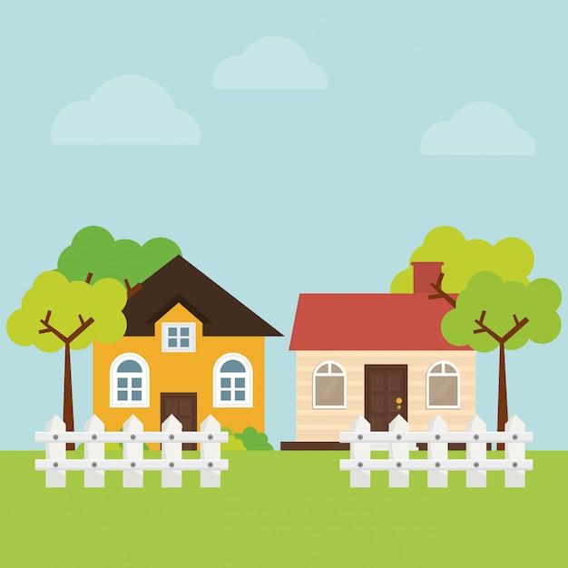Haus design Premium Vektoren